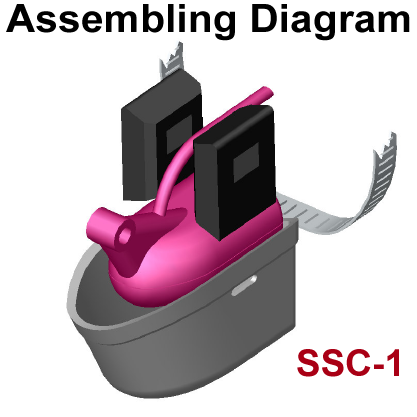 SSC-1 fits Lowrance HST-WSBL (106-72) 83/200kHz Skimmer transducer on a Trolling Motor