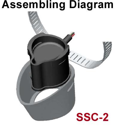 SSC-2 fits Lowrance Pod PDT-WBL (106-74) transducer on a Trolling Motor