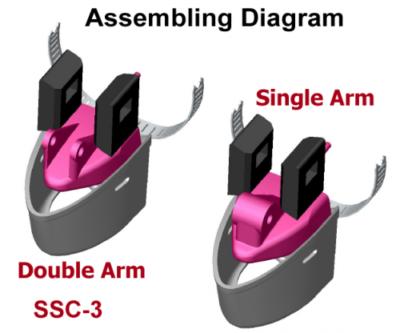 SSC-3 fits Humminbird XNT 9 20 T or XNT 14 20 T xDucer on a Trolling Motor