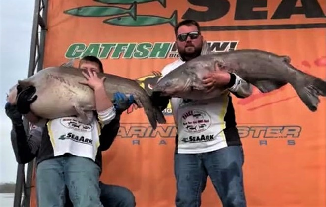 Catfish, tournament, CatMasters, Texas, Josh Smith, Brian St. Alma, Tawakoni, blue cat, state record, lake record